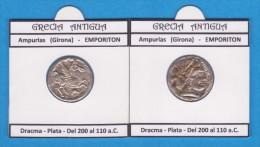 GRECIA ANTIGUA  AMPURIAS  (GIRONA)  EMPORITON  DRACMA Réplica En Plata SC/UNC  Réplica  T-DL-11.436 - Greek