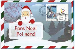 ANDORRE. Lettre (en Catalan) Au Père Noël, Avec Oblitération Ronde Et Tampon De Rennes - Christmas