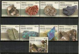MEXICO.Minerales :Azurita,livingstonita,estefanita,calcita,smithsonita,apatito,hemimorfita,berilo,etc 6 Sellos Nuevos ** - Minerals