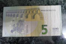 N016 - EXTREMELY RARE - 5 EURO AUSTRIA N016F6 Draghi - EURO