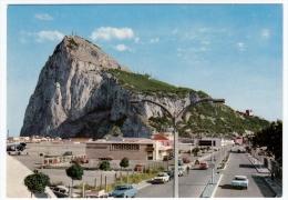 GIBILTERRA - ROCK OF GIBRALTAR FROM  WISTON CHURCHILL'S AVENUE - AEROPORTO - AUTOMOBILI - CARS - Gibilterra