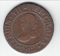 **** MAJORQUE - MAJORCA - ESPAGNE - SPAIN - 12 DINEROS 1812 FERDINAND VII **** EN ACHAT IMMEDIAT - Provincial Currencies