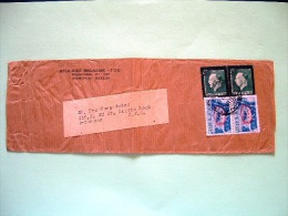 Greece 1947 Cover To USA - King George Memorial Issue - Landscape Overprinted - Religion Journal - Cartas