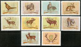 HUNGARY 1964 FAUNA Animals HUNTING - Fine Set MNH - Animalez De Caza