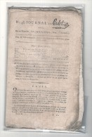 """1795 Authentique - Révolution Française """" Le Journal De Perlet """", N°: 46 Du 22 Frimaire De 1795  L´An 4. - Revistas & Periódicos"""
