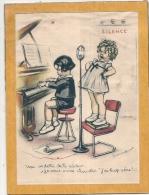 Litho H20cm  Germaine BOURET Année 45/50 - Sur Support Cartonné - Une Vedette De  La Radio - Lithographies