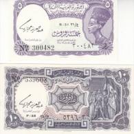 EGYPT 5 10 PIASTERS 1961 P-180e 181e SIG/hegazy LOT SET UNC Cv=$20.00 */* - Egypt