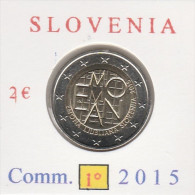 SLOVENIA - 2 EURO COMMEMORATIVO ANNO 2015  (1°)  -  COME FOTO - IN  FDC - Slovenia