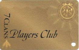 7-Clans Players Club Slot Card Oklahoma - Dark Gold  (Blank) - Casino Cards