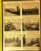 ANCIEN DOCUMENT 1910/1920 GUERRE AVANT LE DEPART AUX DARDANELLES - Collections