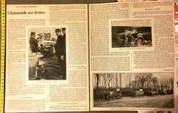 ANCIEN DOCUMENT 1910/1920 GUERRE L AUTOMOBILE AUX ARMEES - Collections