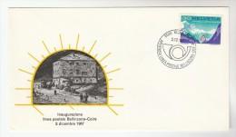 1967 BELINZONA SWITZERLAND San Bernardino ROAD TUNNEL EVENT COVER Stamps - Cars