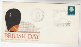 1967 NETHERLANDS Stamps COVER  AMPHIEX AMSTERDAM BRITISH  DAY EVENT COVER Illus British Soldier Philatelic Exhibition - Period 1949-1980 (Juliana)