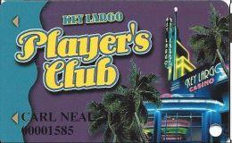 Key Largo Casino Las Vegas NV - 1st Issue Slot Card (Printed) - Casino Cards