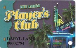 Key Largo Casino Las Vegas NV - 2nd Issue Slot Card - Brown Mag Stripe (Printed) - Casino Cards
