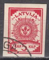 Latvia    Scott No.  10   Used    Year   1919 - Lettland
