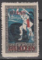 Latvia    Scott No. 91   Unused  Hinged    Year   1920 - Lettland