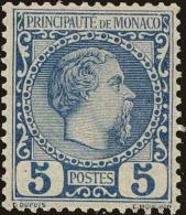 Monaco Scott #3, 1885, Never Hinged - Monaco