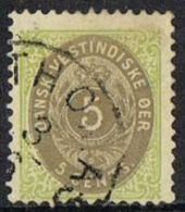 Danish West Indies SG19 1876 Definitive 5c Good/fine Used - Denmark (West Indies)