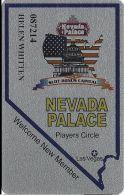 Nevada Palace Casino Las Vegas Slot Card - Dark Reddish-Brown Mag Stripe - No Punches - Casino Cards