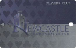 Newcastle Gaming Center Oklahoma Players Club Slot Card - Large Logo On Back (Blank) - Casino Cards