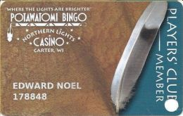 Northern Lights Casino Carter, WI Players Club Slot Card  (Printed) - Casino Cards