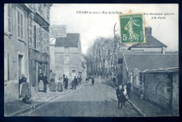 Cpa Du 95  Chars Rue De La Gare   DEC15 08 - Chars