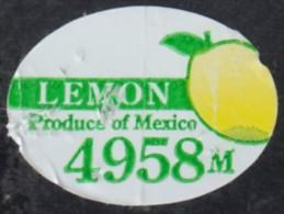 Fruits & Vegetables - Lemon, Produce Of Mexico (FL4958) - Fruits & Vegetables