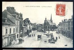 Cpa Du 27  Saint André De L´ Eure -- La Place Du Marché   DEC15 08 - France