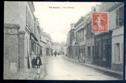 Cpa Du 27  Saint André  -- Rue Grande   DEC15 08 - France