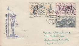 Enveloppe   1er   Jour    TCHECOSLOVAQUIE     JEUX   OLYMPIQUES  De   MELBOURNE   1956 - Estate 1956: Melbourne