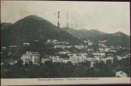 CAVA DEI TIRRENI Panorama Con Monte Castello - Viaggiata Nel 1928 Formato Piccolo - Salerno