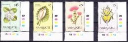Vanuatu 1990 Yvertn° 838-41  *** MNH  Cote 8,50 Euro Flore Bloemen Fleurs Flowers - Vanuatu (1980-...)