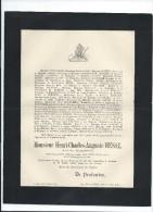 Annonce/ Henri Charles Auguste HESSE/Magistrat/Rue Des Augustins/Amiens/1894   FPD31 - Décès
