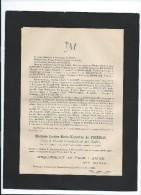 Annonce/Louise Marie Victorine De FRIERES/76 Ans / Château De Beaucamps Le Jeune/Aumale/1894     FPD32 - Obituary Notices