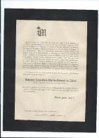 Annonce/Louis Marc Charles De LISAC/60 Ans / Ancien Magistrat/Saint Marcel/Tarn & Garonne/1894     FPD33 - Décès