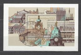 DDR - Block Nr. 55 Nationale Briefmarkenausstellung Dresden 1979 Gestempelt Bad Sulza - [6] República Democrática