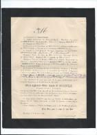Convoi Et Messe/Alfred Alphonse Marie , Comte De Belleville/57 Ans /Chateau De Pontrancard/Dieppe/1894    FPD37 - Décès