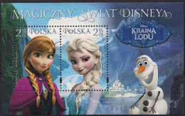 2015 Polen Mi. Bl. 239 **MNH  Disneys Magische Welt. Odr., Blockrand Mit Lacküberzug - 1944-.... Republic