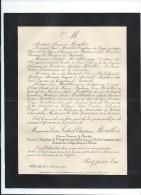 Annonce/Louis Gabriel Christian Morillot /54 Ans /Ancien Zouave /THONON/1894    FPD38 - Décès