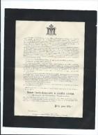Annonce/Caroline Louise Adéle De Calonne D'Avesne Marquise De GalardTerraube/Chateau De Terraube/Gers/78ans /1893 FPD40 - Décès