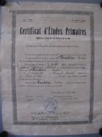 Certificat études Primaires 1930 - Diploma & School Reports