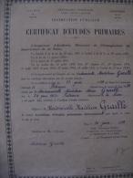 Certificat D´études Primaires 1939 - Diploma & School Reports