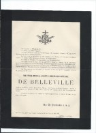 Annonce/Maurice Marie  Joseph Ghislain Octave De Belleville/Valencienne/16  Ans /1895       FPD44 - Décès