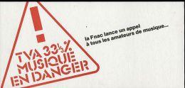 Carte Pétition FNAC TVA 33% Musique En Danger - Events