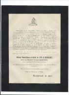 Annonce/Marie Thérése Clotilde De Caix De Rembures/38  Ans /AMIENS/1895       FPD45 - Décès