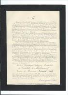 Annonce/Stéphanie Victorine Mathilde Des Courtils De Merlemont/61 Ans /Paris/1895       FPD46 - Décès