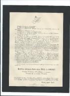 Annonce/Alexandre Marie Jules Morel De Boncourt/84 Ans /Chateau De Florincthun/Pas De Calais/1895  FPD47 - Décès