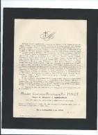 Annonce/Gasparine Margueritte Zoé PINOT/87 Ans /Bruxelles /Abbeville/1895  FPD48 - Décès
