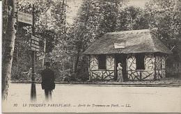 X112935 PAS DE CALAIS LE TOUQUET PARIS PLAGE ARRET DU TRAMWAY EN FORET SANS TRAM - Le Touquet